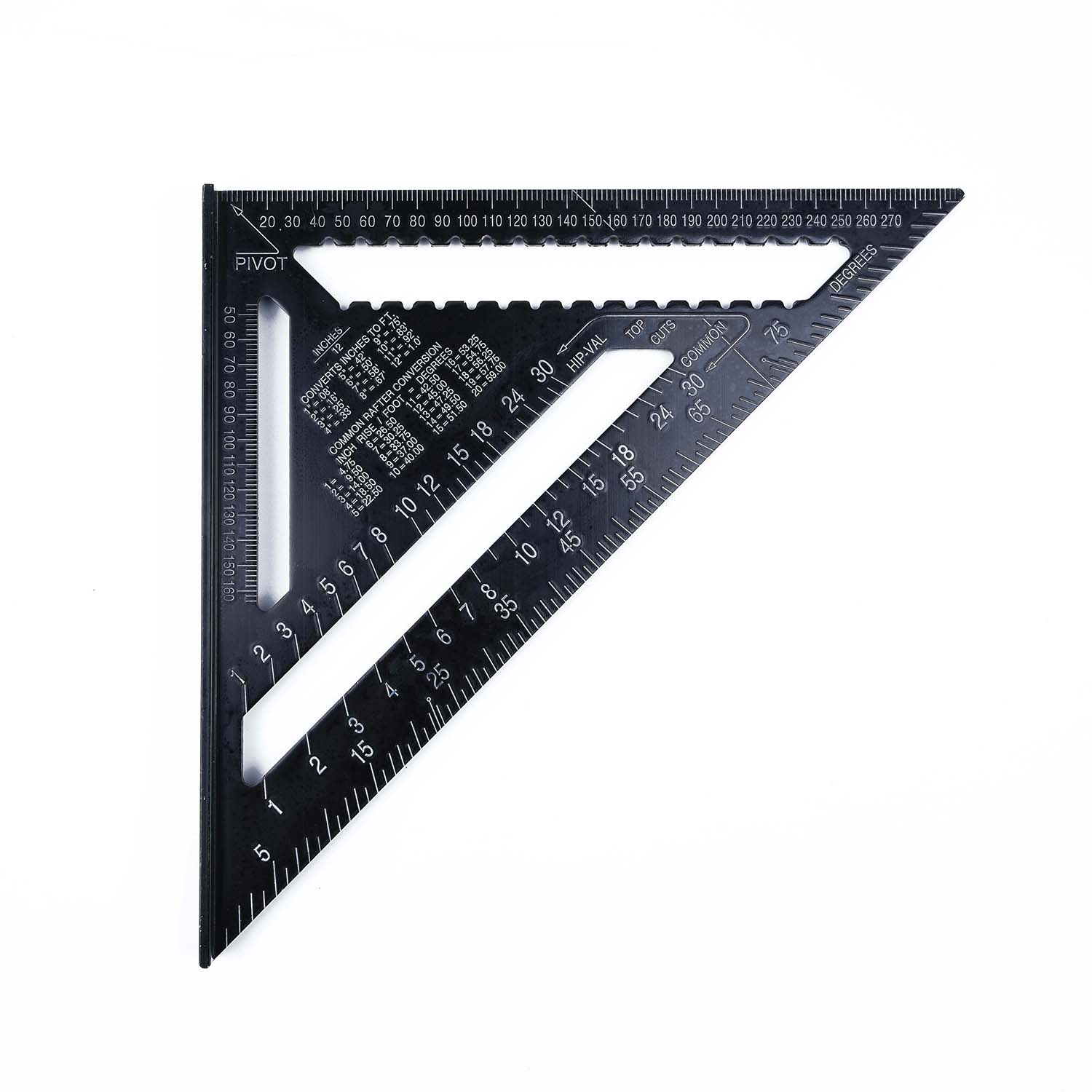 1PC Metric System Triangle Ruler Angle Square Building Protractor Miter Aluminum Alloy Multi-functional Durable 300mm / 12 Inch