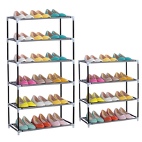 2017 Room Furniture Portable Shoe Racks Folding 4 6 Layers Mental Stainless Combination Dust Proof