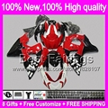 8Gift  For SUZUKI GSXR1000 Red black GSXR-1000 09 10 11 12 13 90BT25 K9 GSXR 1000 GSX R1000 2009 2010 2011 2012 2013 k9 Fairing