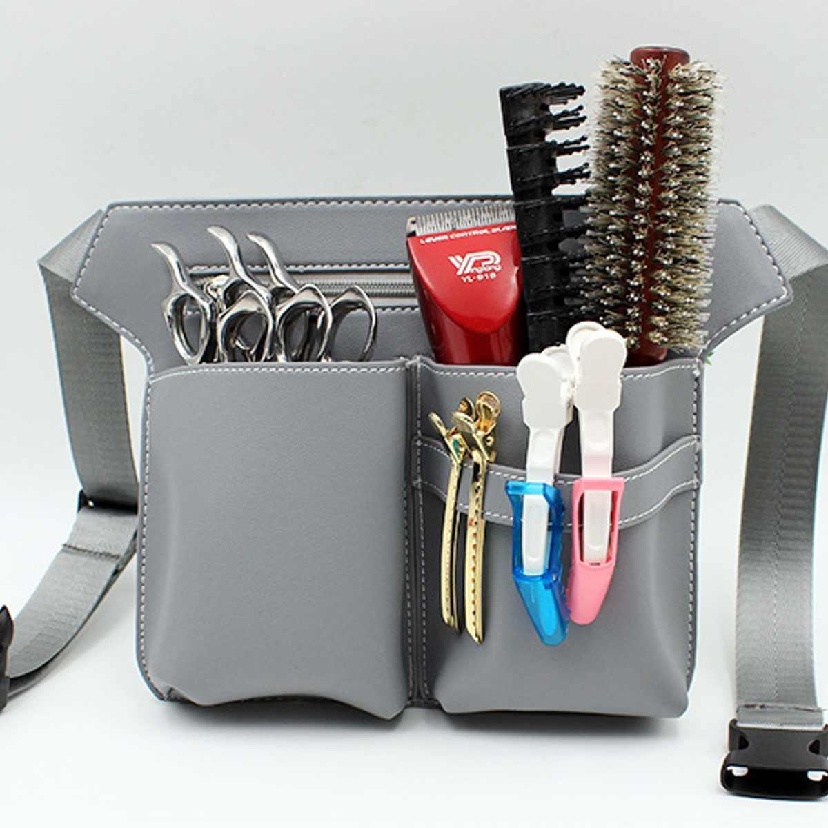 Hair Scissor Bag Clips Comb Case Hairdressing Barber Hair Scissor Holster Pouch Holder Tool Salon Waist Pack Belt PU Leather Bag
