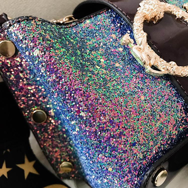 Women Patchwork Handbag Crossbody Bag Soft Leather Square Casual Ladies Chain Shoulder Girl Chain Messenger Satchel Bag louis 21
