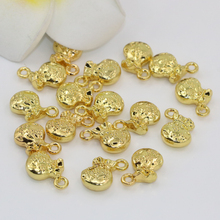 Exquisite diy findings fashion 5pcs gold plated money bag shape 10*11mm spacers beads little pendant accessories findings B2557