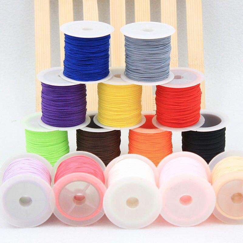 25yards Roll Tali Satin Sasak Polyester Nylon Tali String Cina Simpul Tali Pakaian Diy Paket Gelang Perhiasan Temuan Cords Clothing Polyester Roperope Polyester Aliexpress