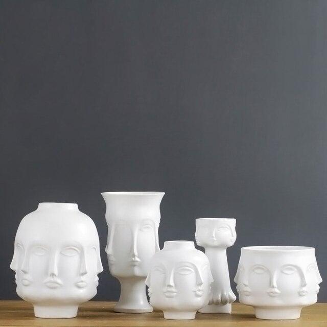 Modern Flower Vase Plant Pots Nordic Style Home Decoration