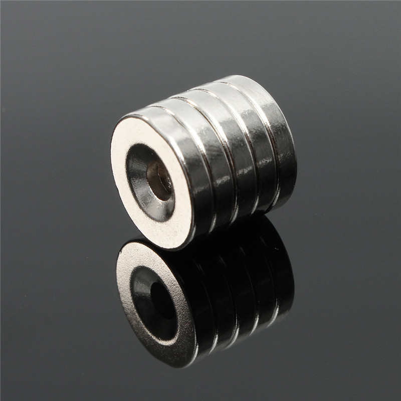 20mm x 3mm N50 Strong Round Ring Magnets Hole 5mm R are Earth Neodymium US