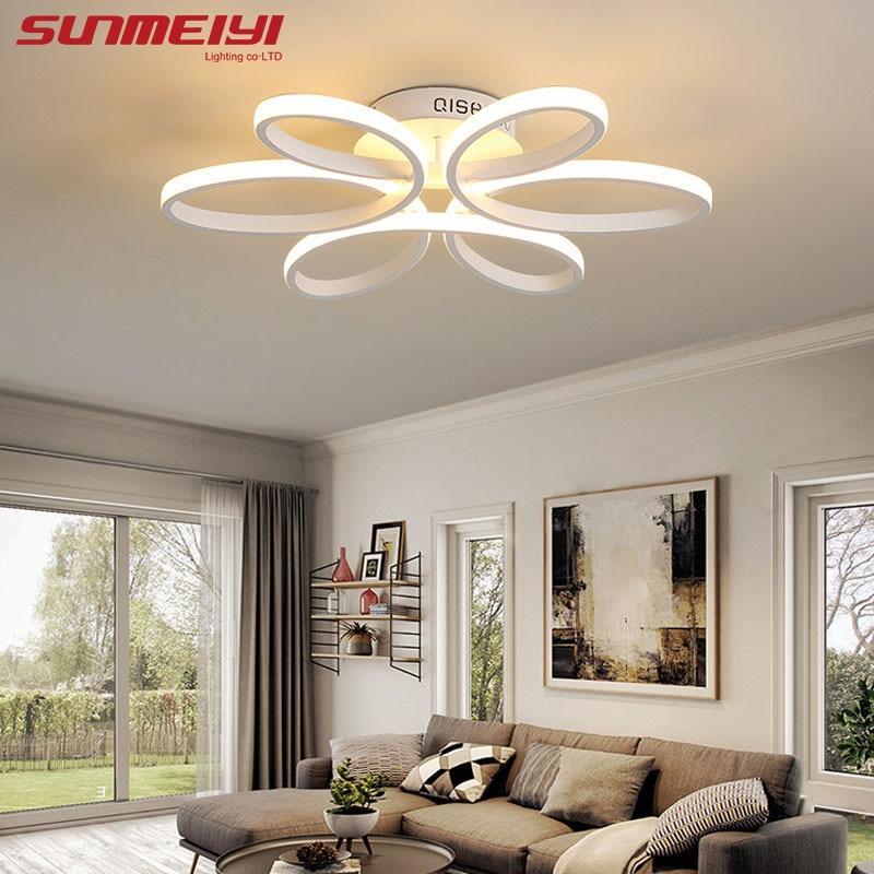 living room led lighting corner units furniture surface mounted modern ceiling lights for ...