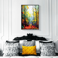 Induction lamp painting Art Printed Elephant With Son Canvas Painting Poster Anime Wall Picture For Living Room BedroomDecoratio