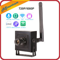Small Mini HD 1080P 960P WiFi IP Camera Wireless CCTV Network Cam Microphone Audio SD Card P2P IPC Android iPhone CamHi APP