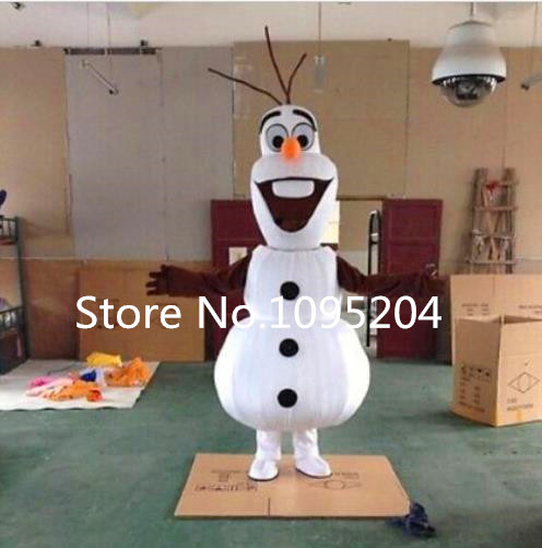 Smiling Olaf Mascot Costume cartoon character costume Free Shipping