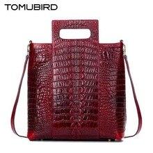 Luxury leather handbags  2017 new fashion crocodile pattern brand atmosphere handbag  Fashion saddle package
