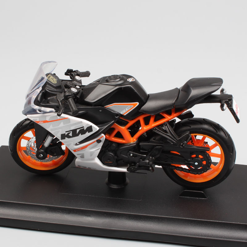 1:18 scale Miniature moto KTM RC390 Motorcycle Diecast metal model Sport bike racing motorbike auto vehicle gift toy for child 1 12 scale mini kawasaki ninja zx 6r sport bike metal motorcycle diecast sport road racing model collection car toy for children