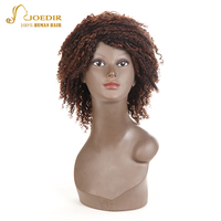 Joedir Brazilian Kinky Curly Human Hair Wig Short Curly Human Hair Wigs For Women Bob Wigs Bouncy Curls Free Shipping Mix Color