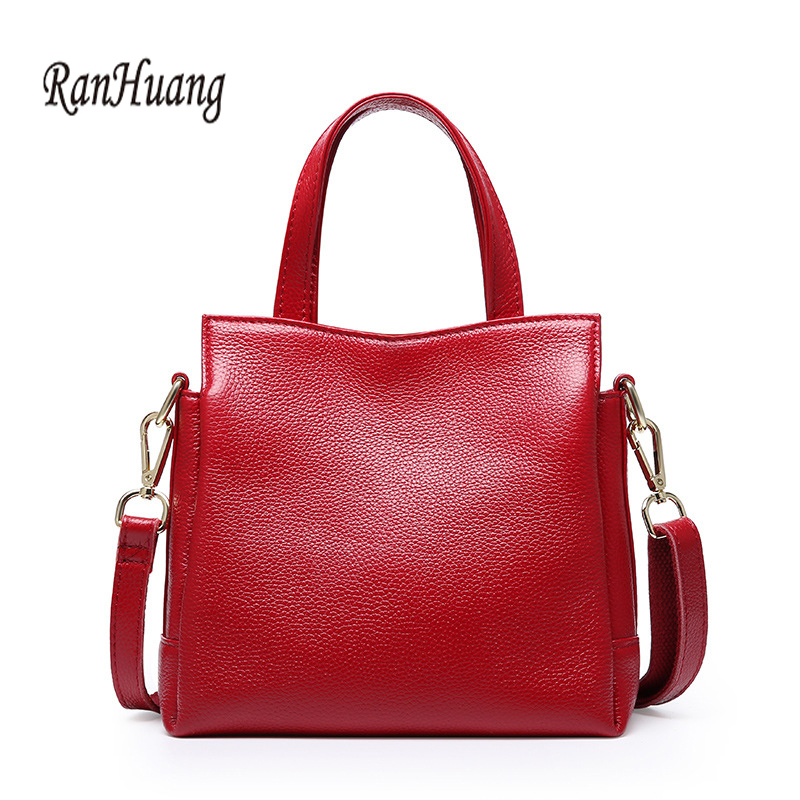 RanHuang Women Genuine Leather Handbags New 2018 Luxury Handbags Cow Leather Messenger Bags Fashion Shoulder Bags bolsa feminina ranhuang 2017 women fashion flap patchwork handbags women s chains shoulder bags pu leather messenger bags bolsas feminina a755