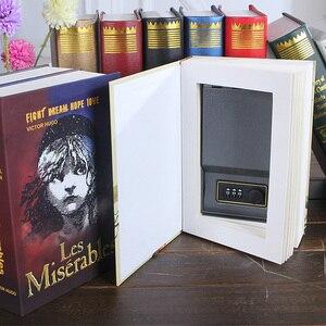 Image 2 - .La Mini Safe หนังสือกล่องเงินซ่อน Secret Security Safe Lock เงินสดเงินเก็บเครื่องประดับอัญมณี key Locker เด็กของขวัญ