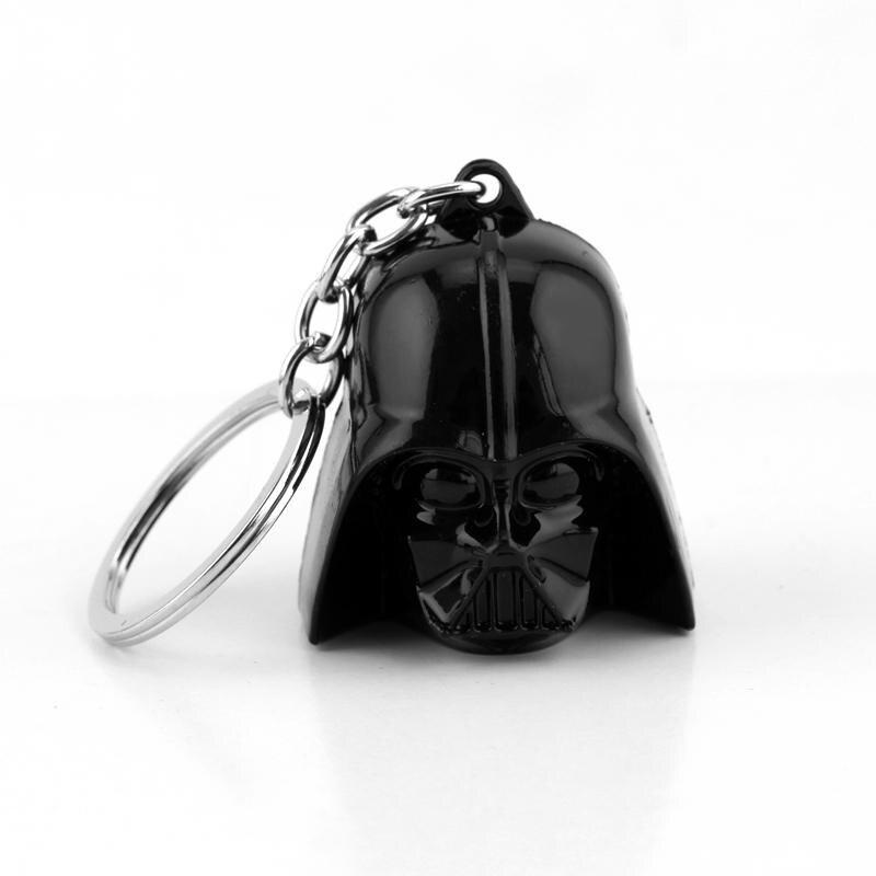 Új filmcsillagok Darth Vader kulcstartó 3D-s portré fekete katona harcos fém kulcstartó tartóval Star Wars kulcstartó ajándék