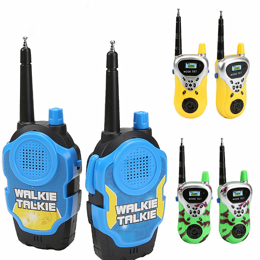 A Pair 50M Walkie Talkies Mini Portable Handheld Two-Way Radio Toy For Kids Children Outdoor Interphone Toy With Original Box