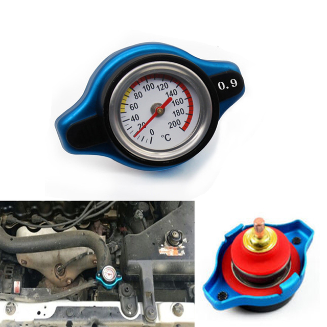 Azul 0,9 BAR termostático radiador tapa presión nominal temperatura medidor cabeza pequeña para Honda Accord Civic del Sol
