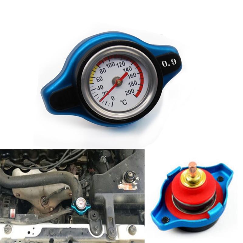 Blue 0.9 BAR Thermostatic Radiator Cap Pressure Rating Temperature Meter Gauge Small Head for Honda Accord Civic del Sol costa del sol