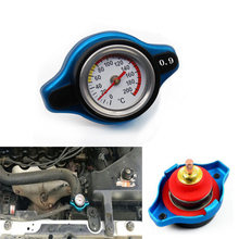 Blue 0.9 BAR Thermostatic Radiator Cap Pressure Rating Temperature Meter Gauge Small Head for Honda Accord Civic del Sol