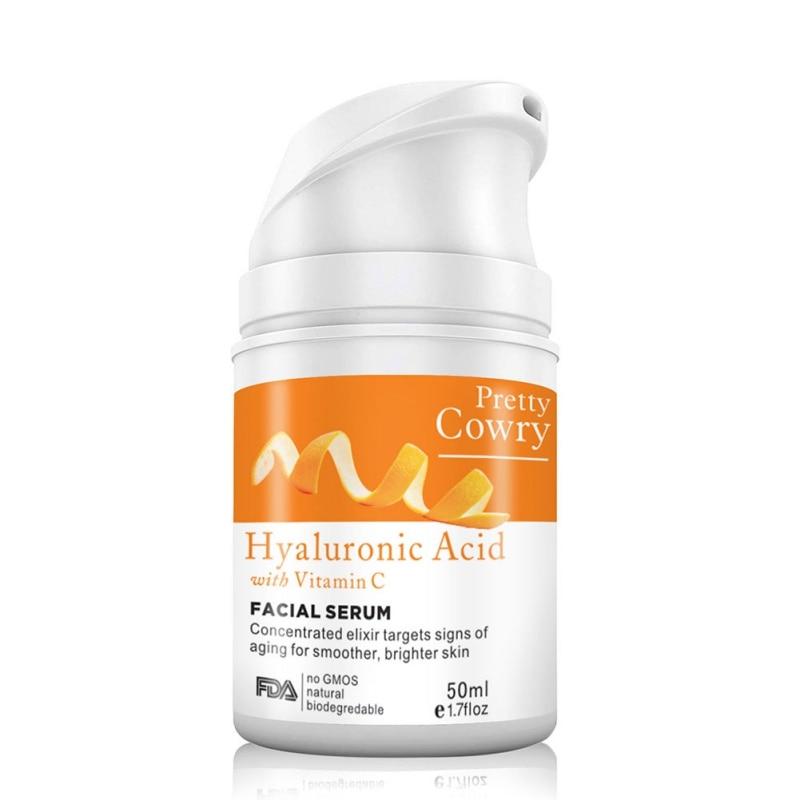 Vitamin C Orange 100% Pure anti-aging Plant Extract Hyaluronic Acid Liquid Whitening Blemish Serum Facial Cream