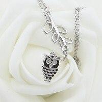 Trinketsea Brand New Syle Fashion Women Y Shape Costume Necklace Jewelry Platinum Plated Base Owl Pendant
