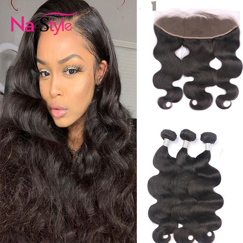 Body Wave Bundles Lace Frontal With Bundles Human Hair Bundles With Frontal 13*4 Frontal Closure With Human Bundles Virgin Hair