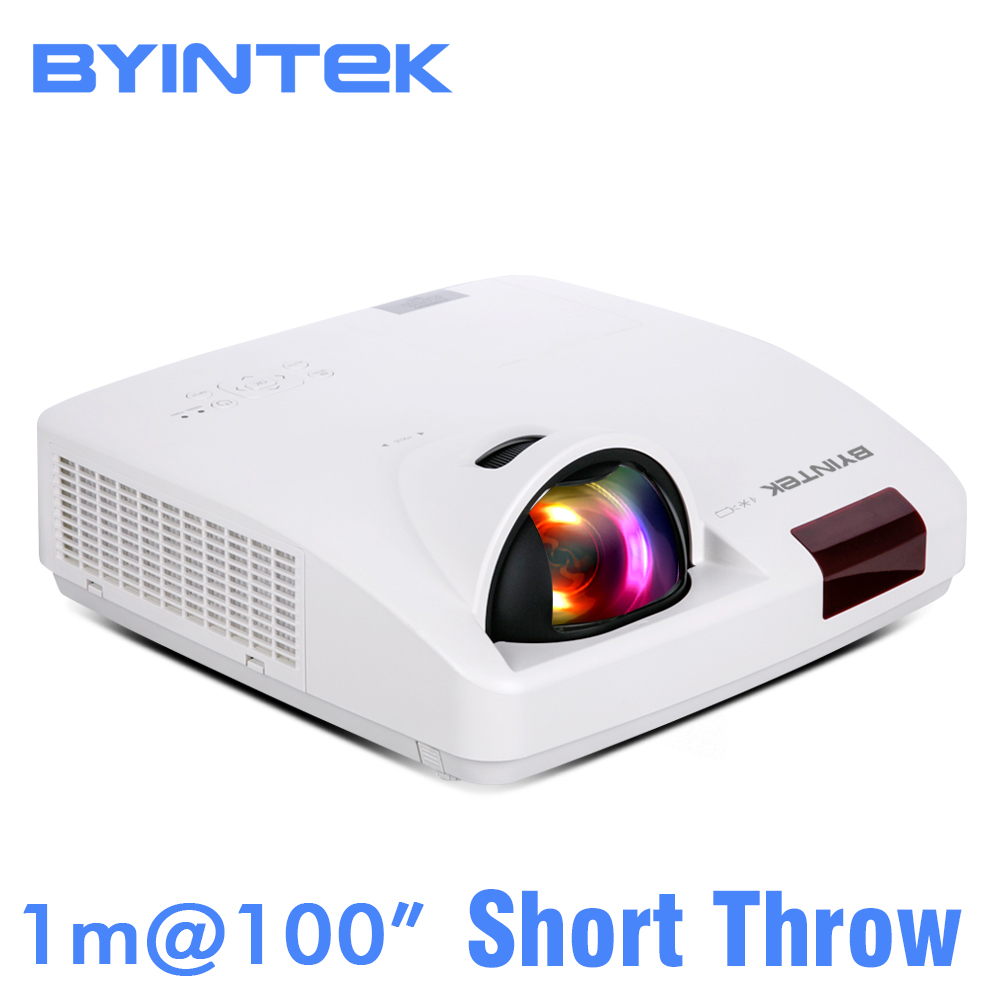 BYINTEK NUVEM K7 Curto Alcance a Luz Do Dia Holograma 3LCD WXGA XGA 1080 P FUll HD Projetor de Vídeo para Cinema Escritório Educação negócio