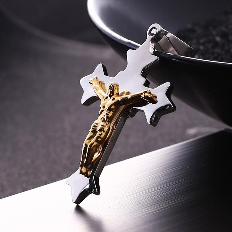 Pingente de Cruz de Prata Colar de Luxo para Mulheres Mulheres dos Homens Novo Design Elegante Ouro Jesus dos Homens 2018