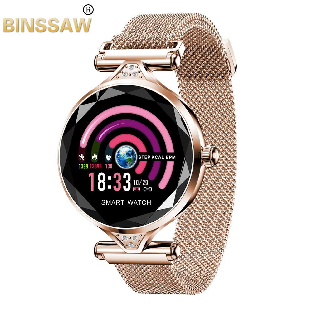 BINSSAW Women Fashion Smart Watch 2019 Blood Pressure Heart Rate Sleep Monitor Pedometer luxury ladies Smartwatch Gift for GirlBINSSAW Women Fashion Smart Watch 2019 Blood Pressure Heart Rate Sleep Monitor Pedometer luxury ladies Smartwatch Gift for Girl