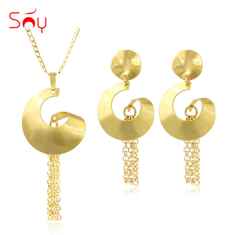 Sunny Jewelry Cute Romantic Tassel Jewelry Sets Necklace Earrings Pendant For Party Wedding Gift For Women Jewelry Sets Findings