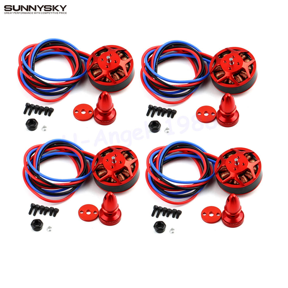 Newest 4set/lot SunnySky V3508 380KV 580KV 700KV disc Brushless Motor Wholesale Dropship цена 2017