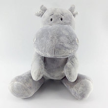 40cm Cute Hippo Plush Toy Hippopotamus Stuffed Plush Animal Appease Doll Interactive Toys Gift for Kids Boys Super Soft Quality