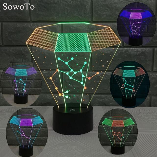 creative holiday gifts lamp romantic 3d diamond starry sky deco