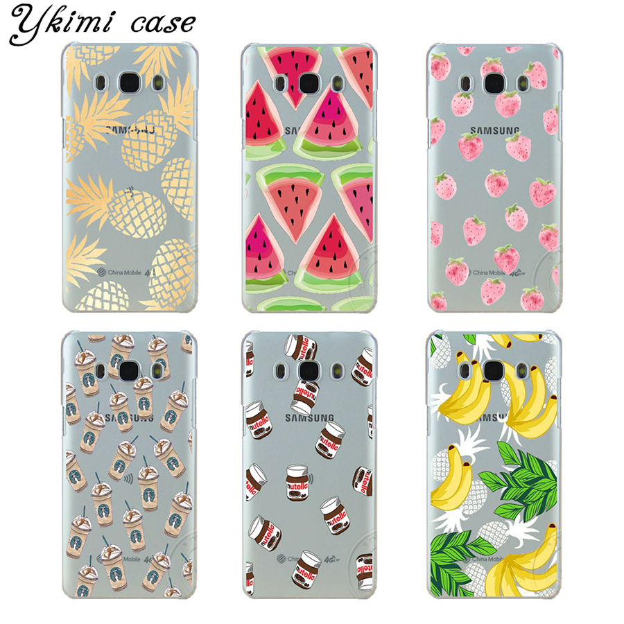 Beautiful pineapple watermelon coffee phone cases for Samsung J1 J5 J7 2015 and 2016 case transparent plastic hard cover