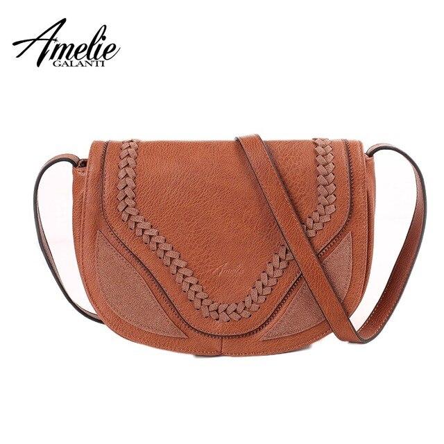 AMELIE GALANTI Half-Moon женская сумка-мессенджер Повседневная практичная сумка через плечо и сумки через плечо для женщин 2018 модная женская сумка