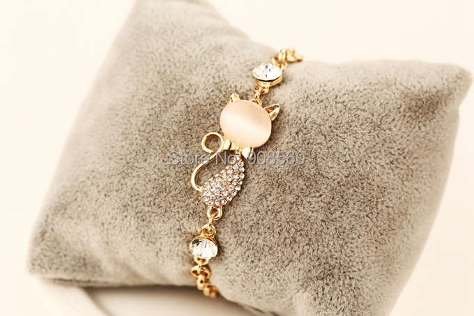 Fashion Pulseiras Femininas Cat Charm Bracelet