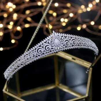 2018 New Design Wedding Tiaras Bridal Headpiece Bride Hair Jewelry Queen Crowns Tocado Novia Wedding Hair Accessories - DISCOUNT ITEM  40% OFF All Category