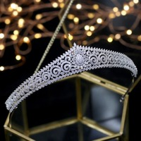 2018 New Design Wedding Tiaras Bridal Headpiece Bride Hair Jewelry Queen Crowns Tocado Novia Wedding Hair Accessories