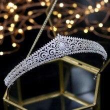 2020 yeni tasarım düğün Tiaras gelin başlığı gelin saç takı kraliçe taçlar Tocado Novia düğün saç aksesuarları