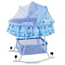 Большая европейская детская кроватка-колыбель, игровая кровать с москитной сеткой, детская спальная кровать, детская Bassinet0-24Mouth, качели для младенцев