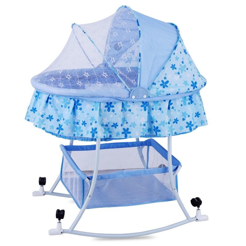 Grand lit de berceau de bébé européen lit de jeu avec moustiquaire bébé lit de couchage bébé Bassinet0-24Mouth balançoire pour bébé