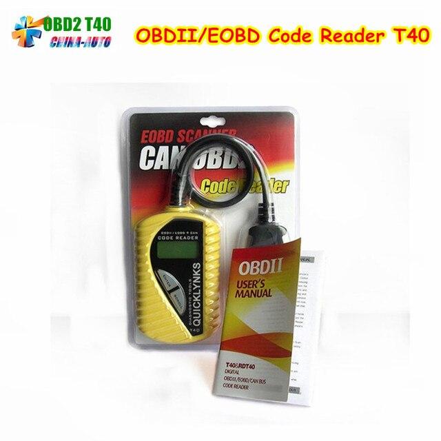 5 teile/los OBD2 Scanner/Auto Grundlegende Codeleser QUICKLYNKS T40 ...