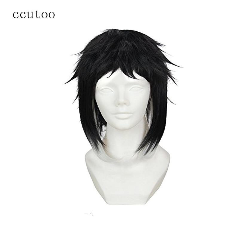 Ccutoo 30 см Бунго бродячих Товары для собак Акутагава рюноскэ черный, белый цвет syntehtic волос Косплэй парик