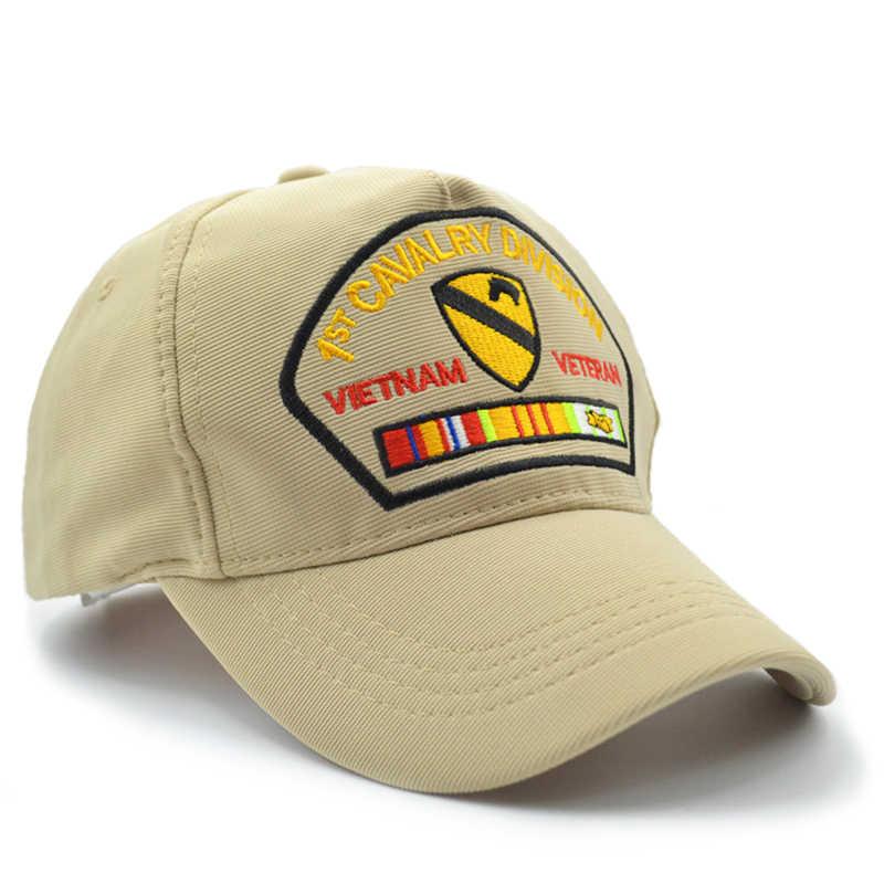 978b6c50 ... MEGE 1st CAVALRY DIVISION Army Cap for Fishing, Sombrero gorra de  pesca, Outdoor Sports ...