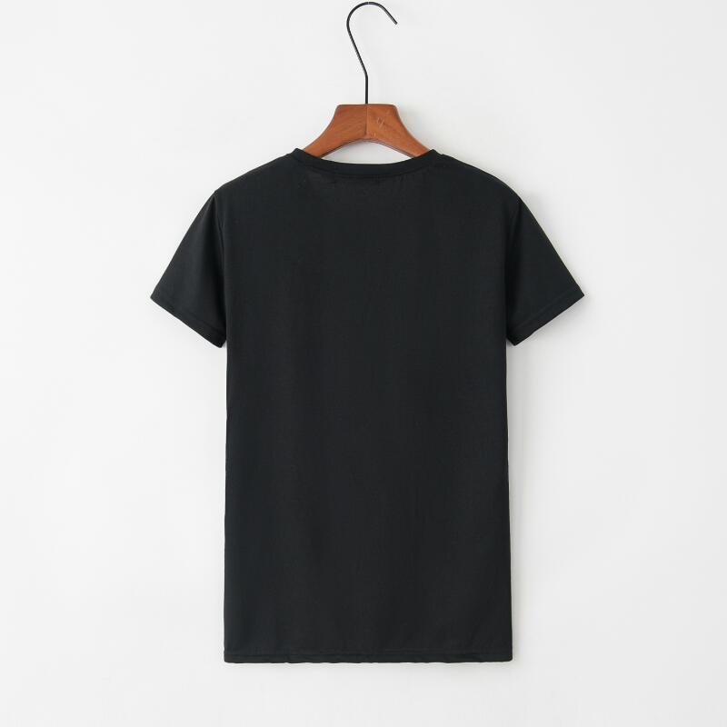 Yin et chat motif imprimé T Shirt femmes mode grande taille à manches courtes coton drôle t shirt Femme esthétique Art haut pour Femme - 5