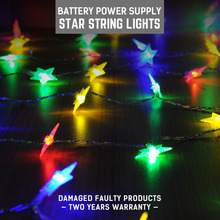 DC5V Led Star Shape Fairy Lights Christmas Indoor 5M RGB Battery Operated Decorations For Home Outdoor