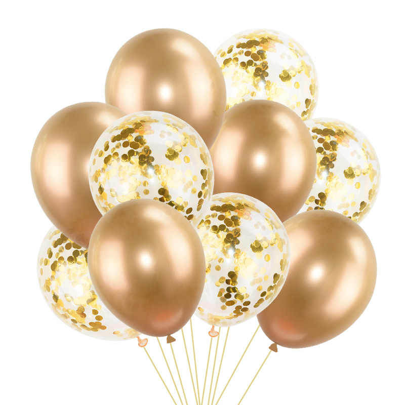 5/10pcs 12inch Glossy Metal Pearl Latex Balloons Thick Chrome Metallic Color Inflatable Air Balls Birthday Mermaid Party Decorat