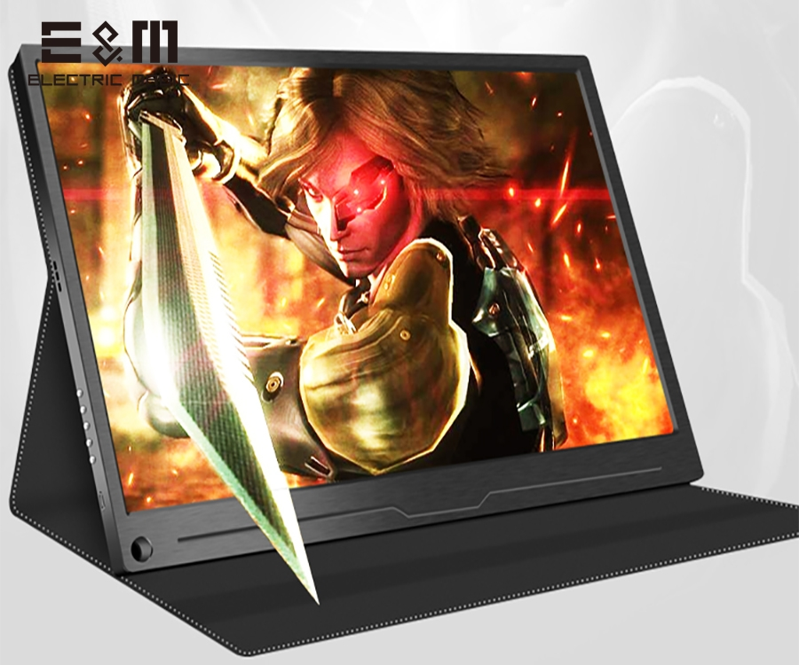 17.3 Inch IPS Screen HDR Portable Monitor For PS3 PS4 Xbox NS 1920X1080 DP Type-C Gaming Computer Laptop Support TNT DEX System