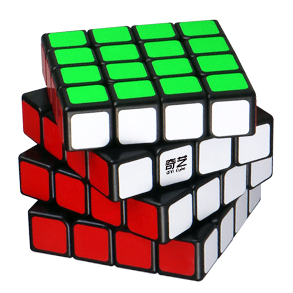 4 Layers QiYi's Magic Cubes 4*4*4 Speed on 4x4x4 Cube Toy for Grownups Kids Professional Four Cubo Megico Stickers