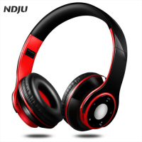 NDJU Bluetooth Headphone Headsets Colorful Stereo Audio Mp3 Bluetooth Headset Wireless Earphone Support SD Card Play